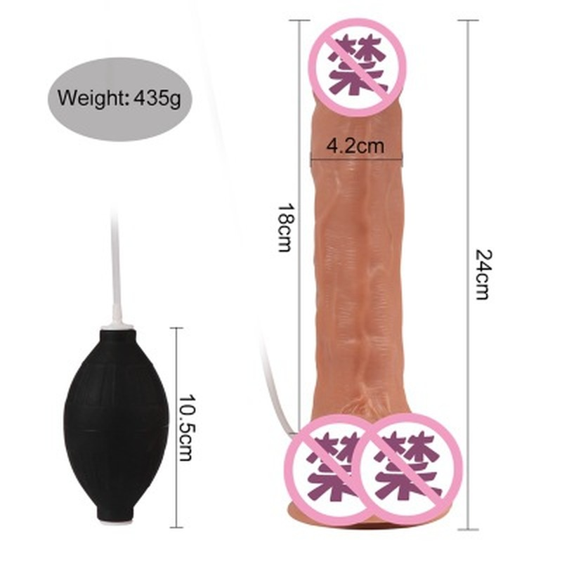 Super fake penis 7 inch sprinkler penis female sex comfort device adult products long dildo big dildo for women in Dildos from Beauty Health