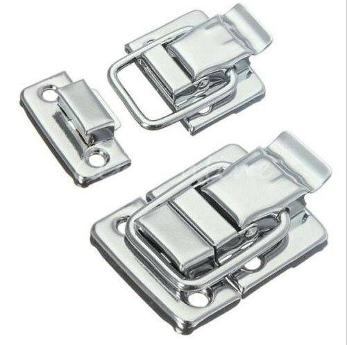 10 Stücke Silber Verschluss Toggle Latch Fang Brust Koffer Boxen Trunk Schloss