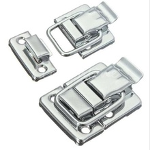 10Pcs Silver Fastener Toggle Latches Catch Chest Suitcase Boxes Buckles Trunk Lock