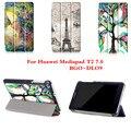 CY Прохладный Цветной Рисунок Pu Кожаный Стенд Case Обложка Щит Для Huawei MediaPad T2 7.0 BGO-DL09 Планшетный ПК С магнитной