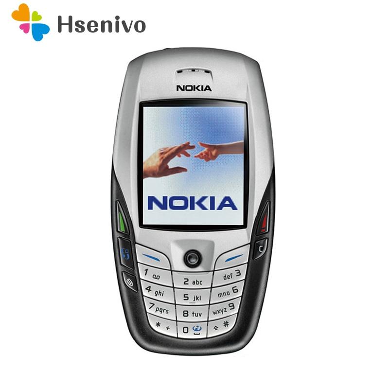Remis à neuf D'origine NOKIA 6600 Téléphone portable Bluetooth Caméra GSM Débloqué Triband Blanc et garantie d'un an