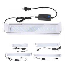 Аквариумный светодиодный светильник, лампа для водных растений, 180 градусов, регулируемое облучение, низкая мощность, светильник для аквариума с зажимом