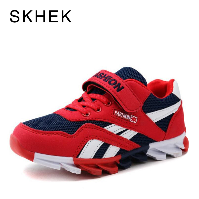 SKHEK New Boys Mesh Sneakers Kids Sport Shoes For Girl Sneakers Children Breathable Student Casual Shoe Fashion Autumn Shoes