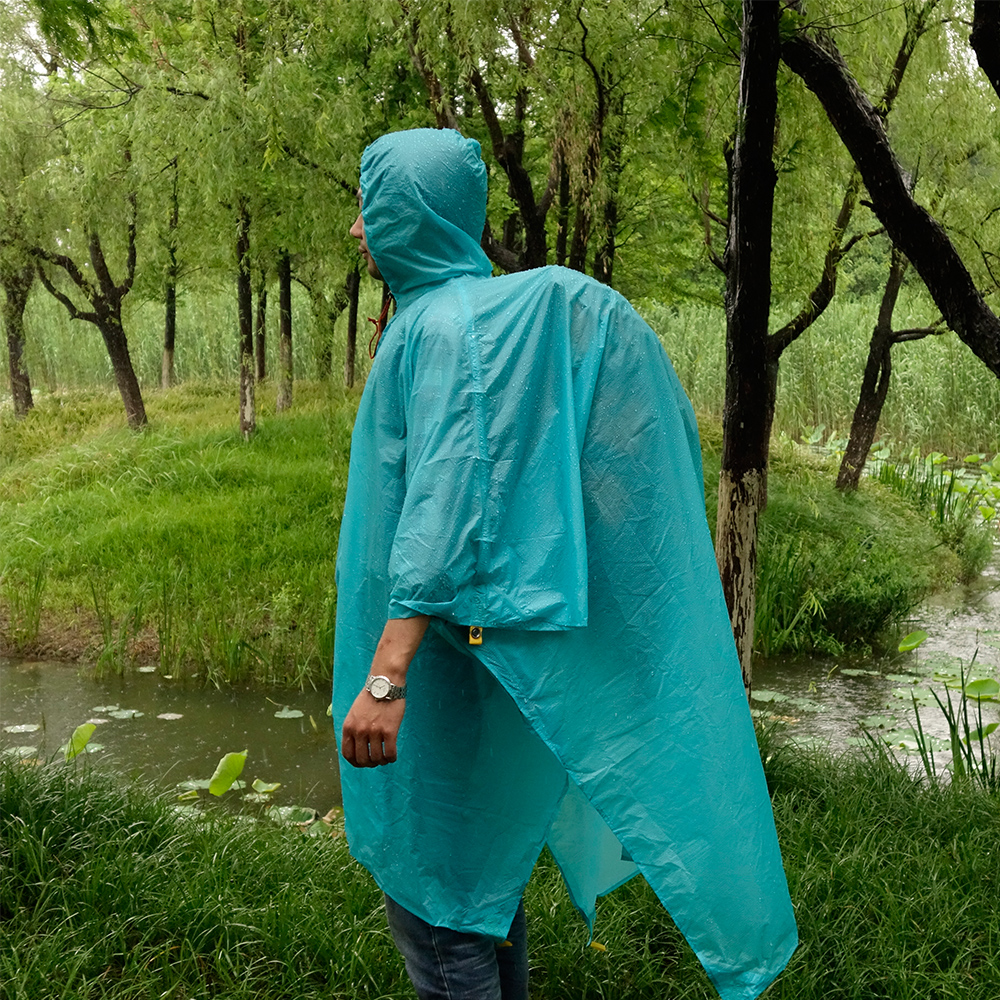 LUCKSTONE Multifunctional Waterproof Riding font b Hiking b font Camping Raincoat Environmental Mat Men S Women