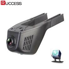 Видеорегистраторы для автомобилей DVRs Wi-Fi регистратор тире Камера Cam цифрового видео Регистраторы видеокамера 1080 P Ночь Версия Двойной объектив dashcam вариант