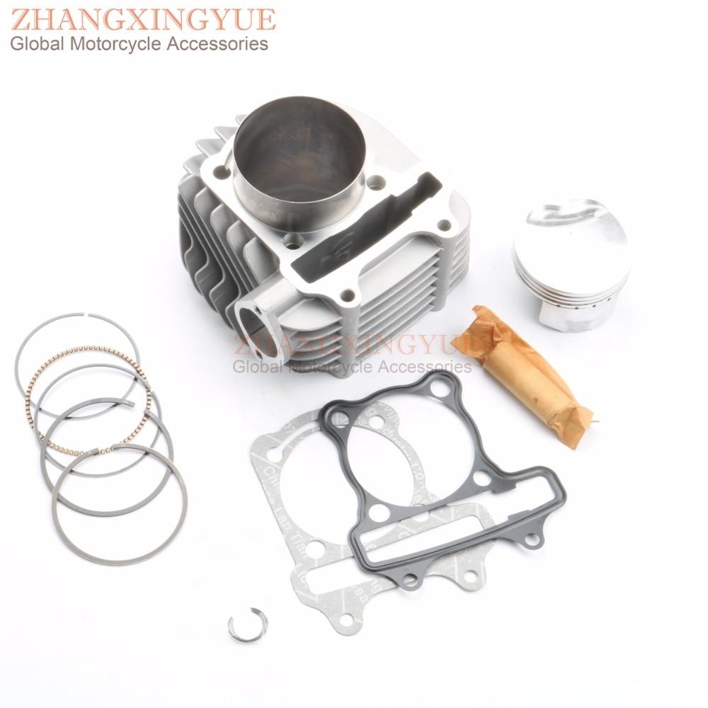 63mm 4 valve / 4V valve big bore Cylinder Set for GP110 GY6 125cc 150cc Upgrade to 200cc 152QMI 157QMJ nibbi engine upgrade parts cylinder 58 5mm 6 2mm camshaft for gy6 scooter 150cc 125cc 152qmi 157qmj