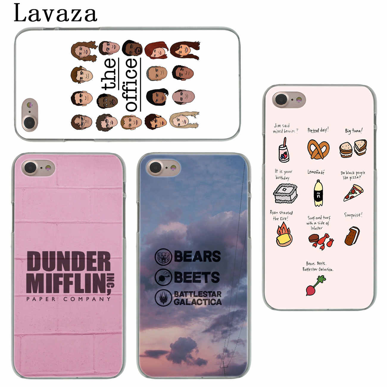 hot sale online 630f2 8f776 Lavaza TV the office cast meme Hard Cover Case for Apple iPhone X XS Max XR  6 6S 7 8 Plus 5 5S SE 5C 4S 10 Phone Cases