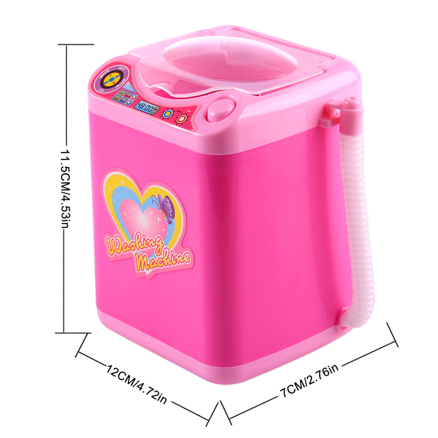 Educational Toy Mini Electric Washing Machine Children Pretend & Play Baby Kids Home Appliances Toy - Pink 5