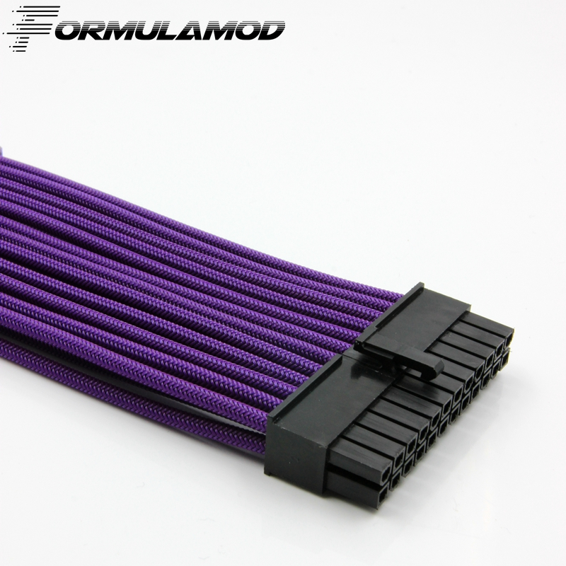 FormulaMod ATX 24Pin Motherboard Power Extension Cable 18AWG 24Pin Extension Cable for water cooling computer FMATX24P-A formulamod pci 6pin motherboard power extension cable 18awg 6pin extension cable for water cooling computer fmpci6p c