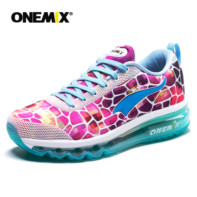 ONEMIX women pink sneakers female running shoes for outdoor athletic jogging walkings shoes sneakers for girls gym shoes women N in Running Shoes from Sports Entertainment