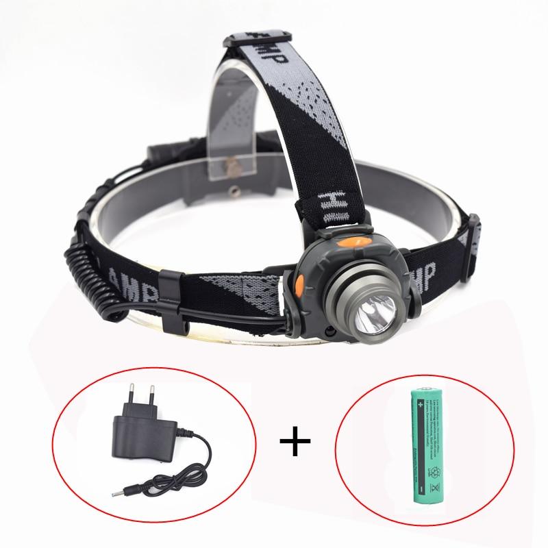 Mini IR Sensor Headlight Induction Rechargeable Lantern Headlamp 1200 Lumen1Mode Flashlight Head Torch by 1x 18650 Battery