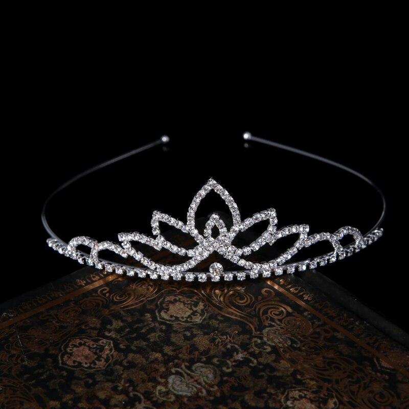 Wedding Party Bridal Tiara Princess Crown Headband Rhinestone Hair Accessories