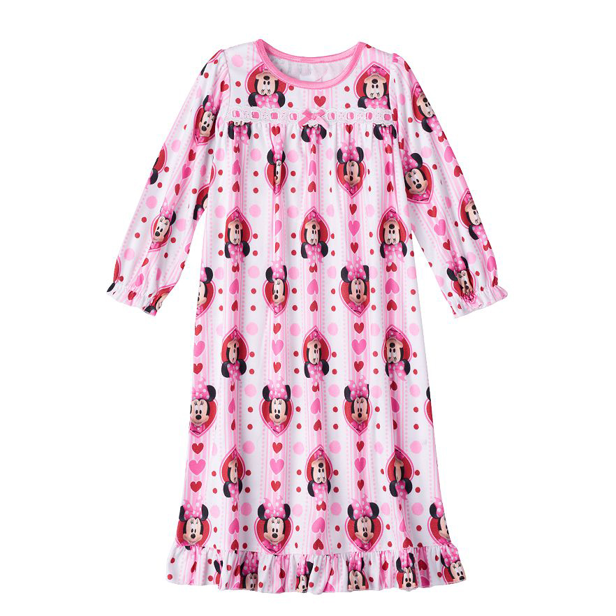 Fadket Girls Home Clothes Princess Nightgown Sleepwear Short Sleeve Cartoon Pajamas For Girls Children Kids