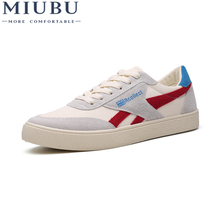MIUBU 2019 New Mens Casual Shoes Canvas Shoes For Men Lace-up Breathable Fashion Summer Autumn Flats Fashion Male Shoes amaginmni 2018 new mens casual shoes lace up breathable fashion spring autumn flats fashion male shoes hot sale loafers shoes