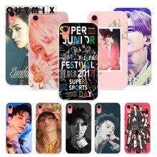 OUTMIX Kpop Super Junior Case Soft Silicone Cellphones For iPhone 7 7plus 8 8plus X XS XR max 5 5s 6 6S 6plus case coqoe недорго, оригинальная цена