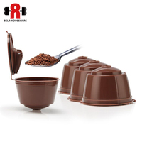 4Pcs 6 Pcs Reusable Dolce Gusto Coffee Capsule 3rd Plastic Refillable Compate Dolce Gusto Nescafe Coffee