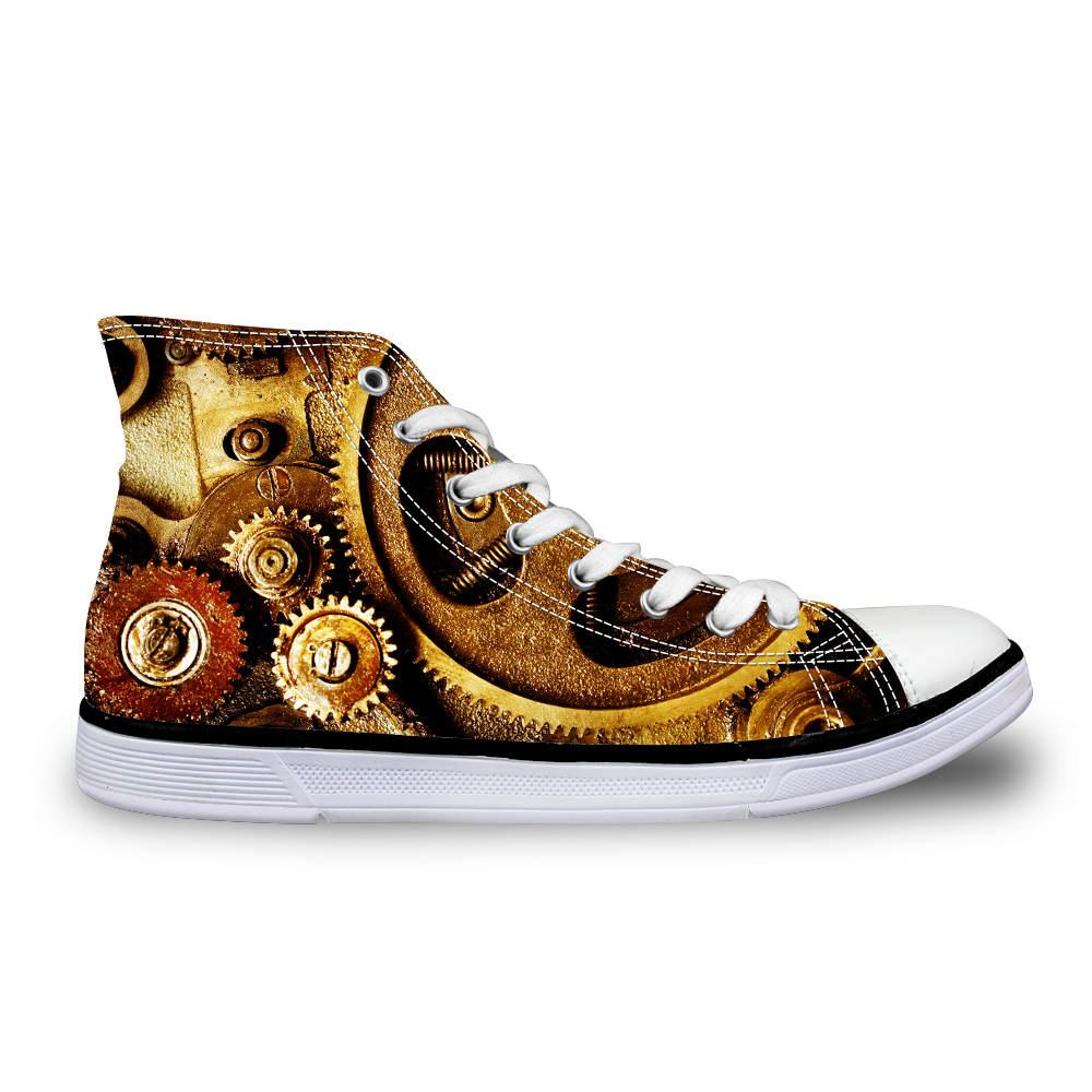 Noisydesigns Hoge top canvas Heren sneakers vintage gevulkaniseerd - Herenschoenen - Foto 2