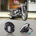 "1x 7"" H4 Motorcycle Black Projector Daymaker H-ID LED Light Bulb Headlight for Harley"