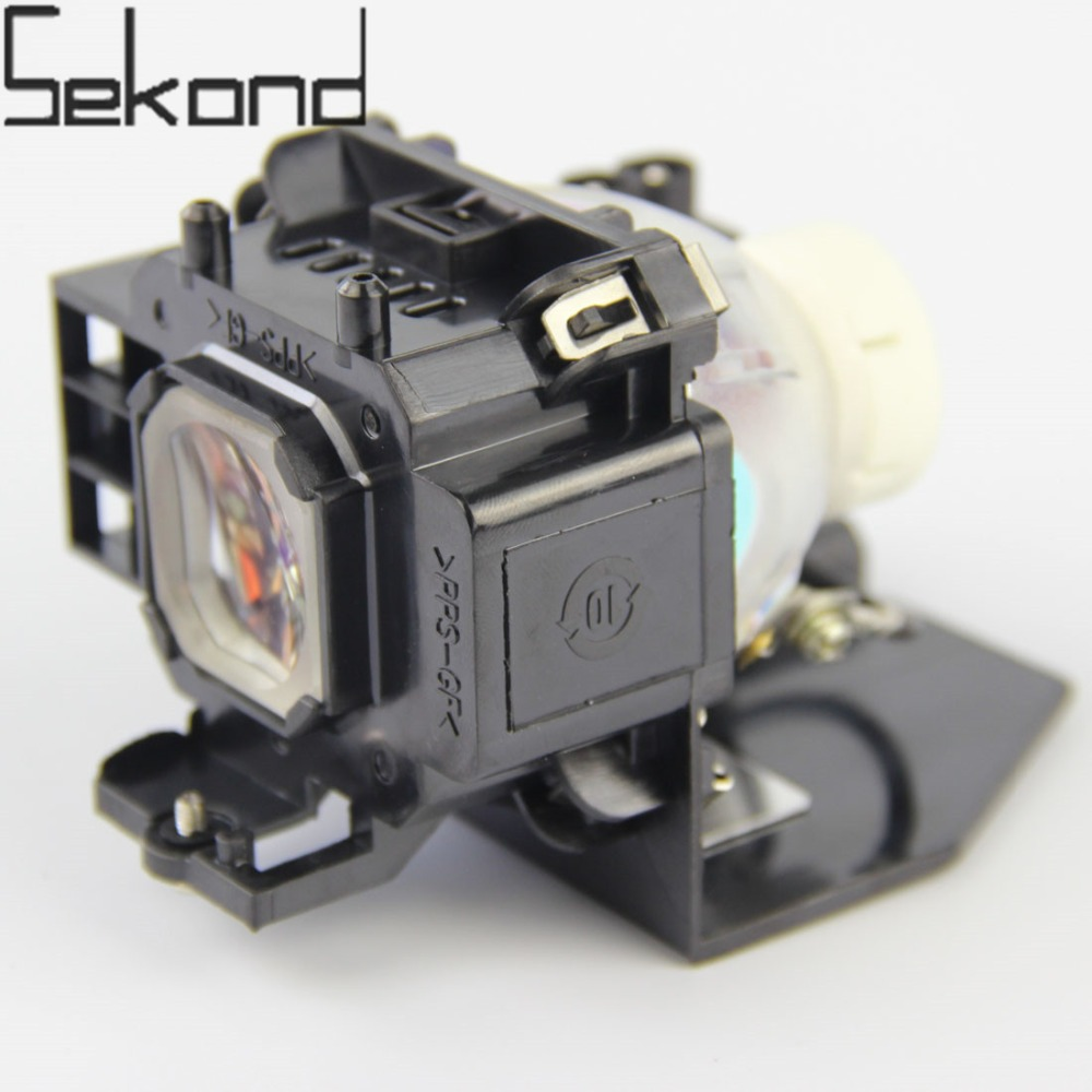 SEKOND Replacement Lamp NP07LP W/housing For Nec NP500W NP600 NP400 NP300 NP500 NP410W NP610 NP610S NP510WG NP510WSG Projectors