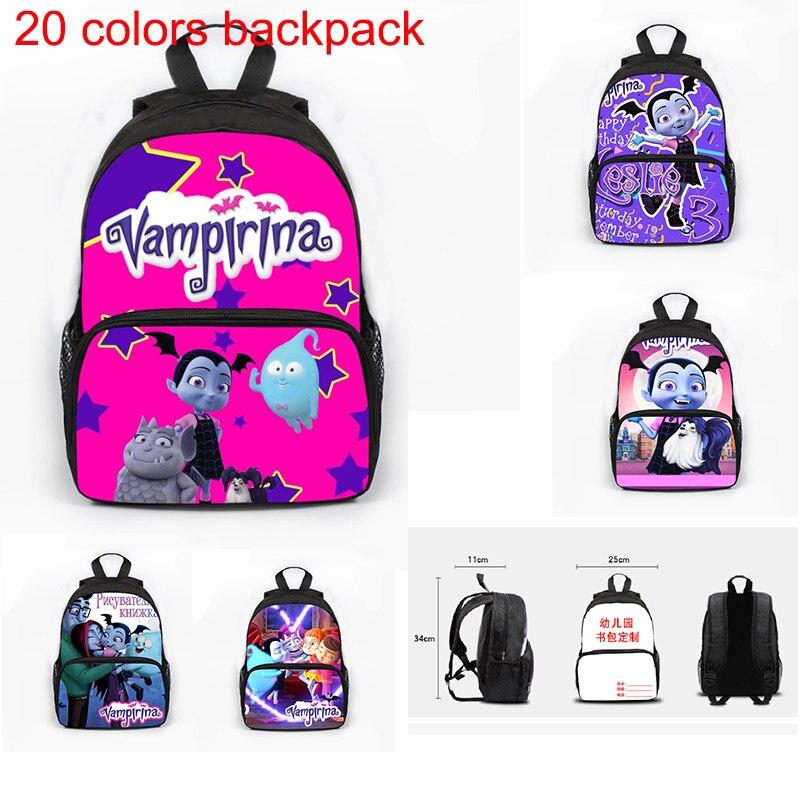 Multifunction Vampirina Girl Kindergarten Small Backpacks Girls Boys School Bags Book Bags Anime Actions Figure Toys Kids Gift