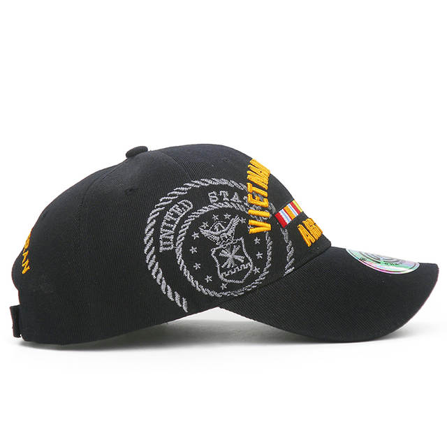 Embroidered Letters VIETNAM VETERAN Baseball Caps For Men Air Force  Tactical Baseball Hat Outdoor Arm Caps Casual Dad Hat