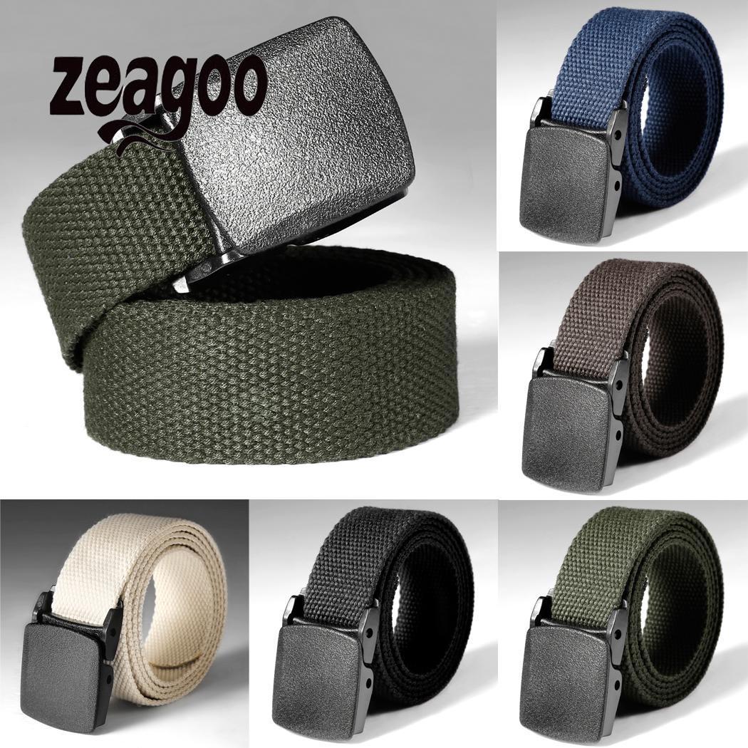 Men Women Universal Army Style Automatic Buckle Nylon Belt 2019 New Outdoor Tactical Waist Belt For Men Female