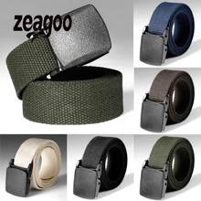 Men Women Universal Army Style Automatic Buckle Nylon Belt 2019 New Outdoor Tactical Waist Belt For Men Female(China)