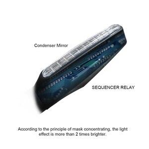 Image 5 - 2 個 4 個ウインカーのバイクled警告ライトウインカー流水フラッシャーライトテールストップインジケータ内蔵屈曲可能なランプ