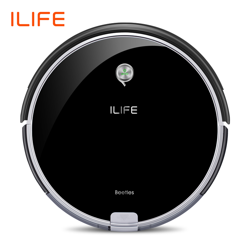 ILIFE A6 Robotic Vacuum Cleaner com Preto Piano