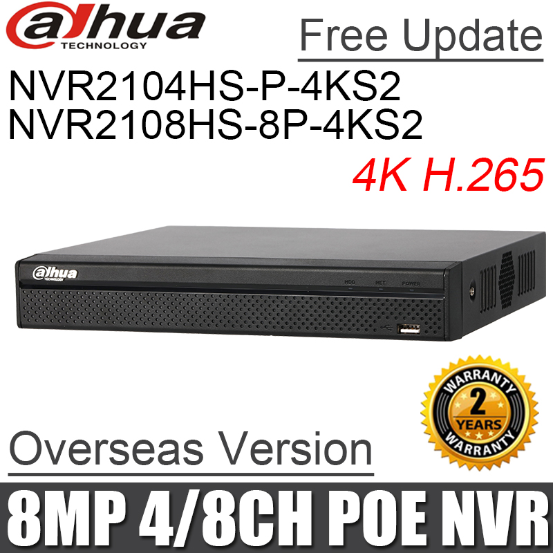 Dahua OEM NVR4208-8P-4K 8CH 4K IP NVR 8POE Ports Switch NVR