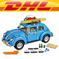 Yile 003 City Car Beetle Building Blocks 10252 Lepin Technic Bricks 21003 Action Figure Vehicle Toys