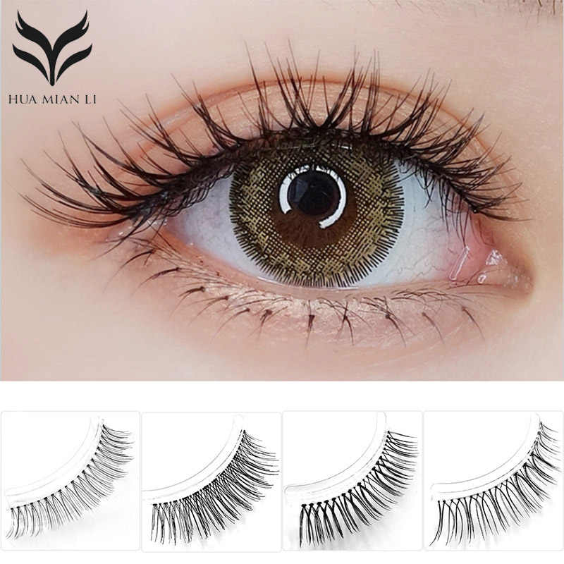 4880bfc50ce Fashion 3 Pairs Sharpened False Eyelashes 7 Types Handmade Transparent  Terrier Fake Eyelashes Eye Makeup Tools