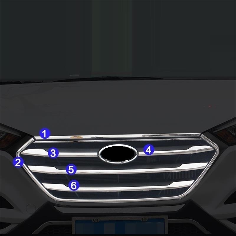 Grille Foot Pedal Automobile Auto Decorative Chromium Car Styling Sticker Strip Covers 15 16 17 18