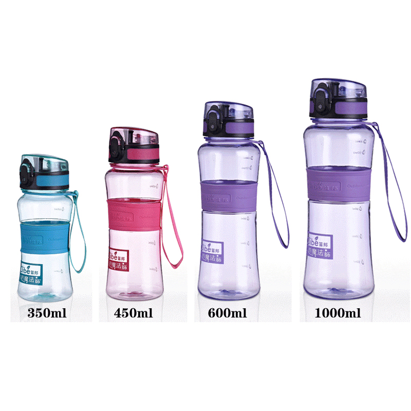 650ML Tritan Outdoor Sport Cycling Travel Water Bottles Scrub Fruit Milk Space Hiking Camping My Shaker Bottle