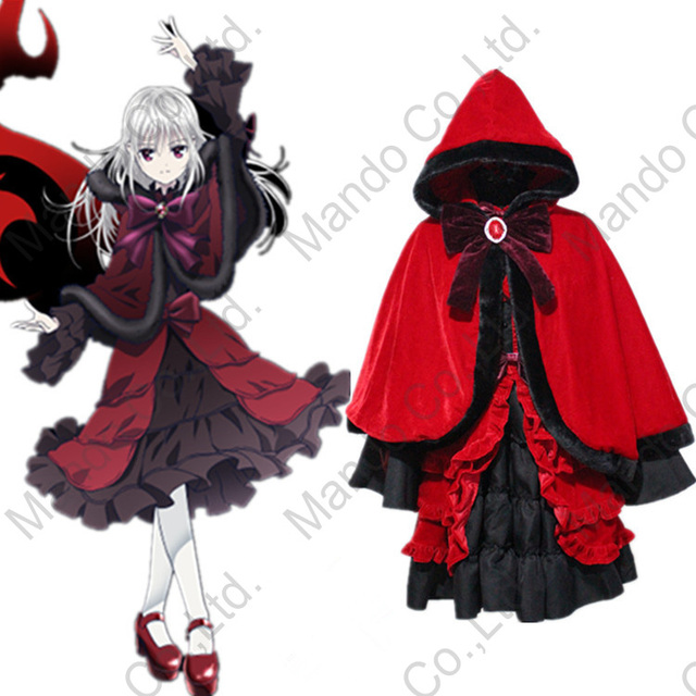 Anime K RETURN OF KINGS Kushina Anna Lolita Dress Gothic Cosplay Costumes Halloween Hooded cape Mardi Gras Carnival party suit