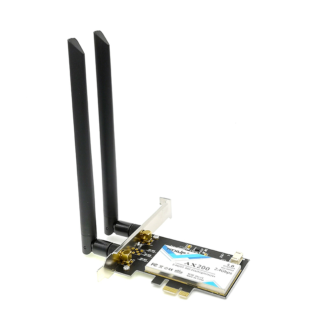 Wtxup 2400Mbps Wireless Ax200Ngw Ngff Network Wifi Card For Intel Ax200 2.4G/5Ghz 802.11Ac/Ax Wi-Fi Bluetooth 5.0 4