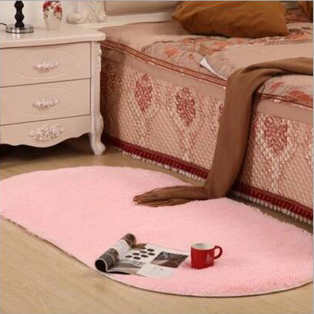 2017 New Fashion Japanese Style Oval Soft Silk Carpet For Living ...