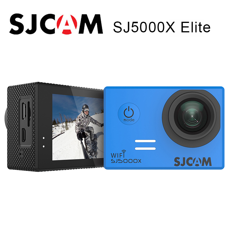 SJCAM SJ5000X Elite sport caméra d'action WiFi 4 K 24fps 2 K 30fps Gyro 2.0 LCD NTK96660 plongée 30 m étanche SJ Action Cam