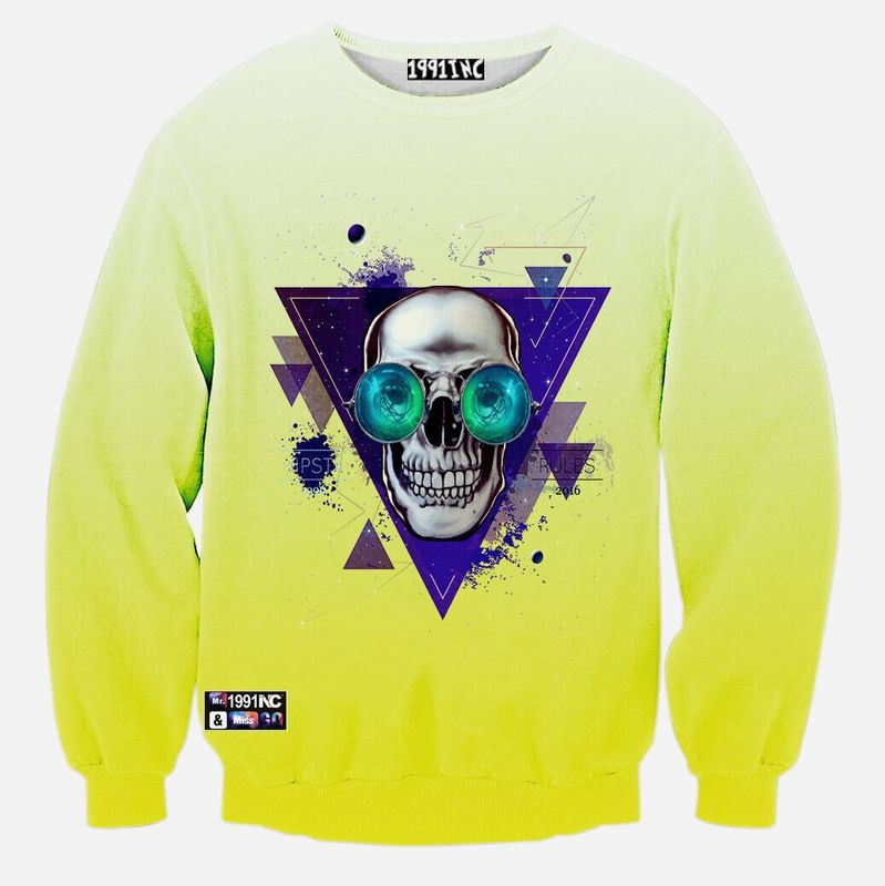 7bfc821d3e90 9 style 3d clothing Dye Skulls Big Sharp Pizza Swimming Mouth Wolf Cat  Muscle casual Long sleeve 3d sweatshirt-in Hoodies   Sweatshirts from Men s  Clothing ...