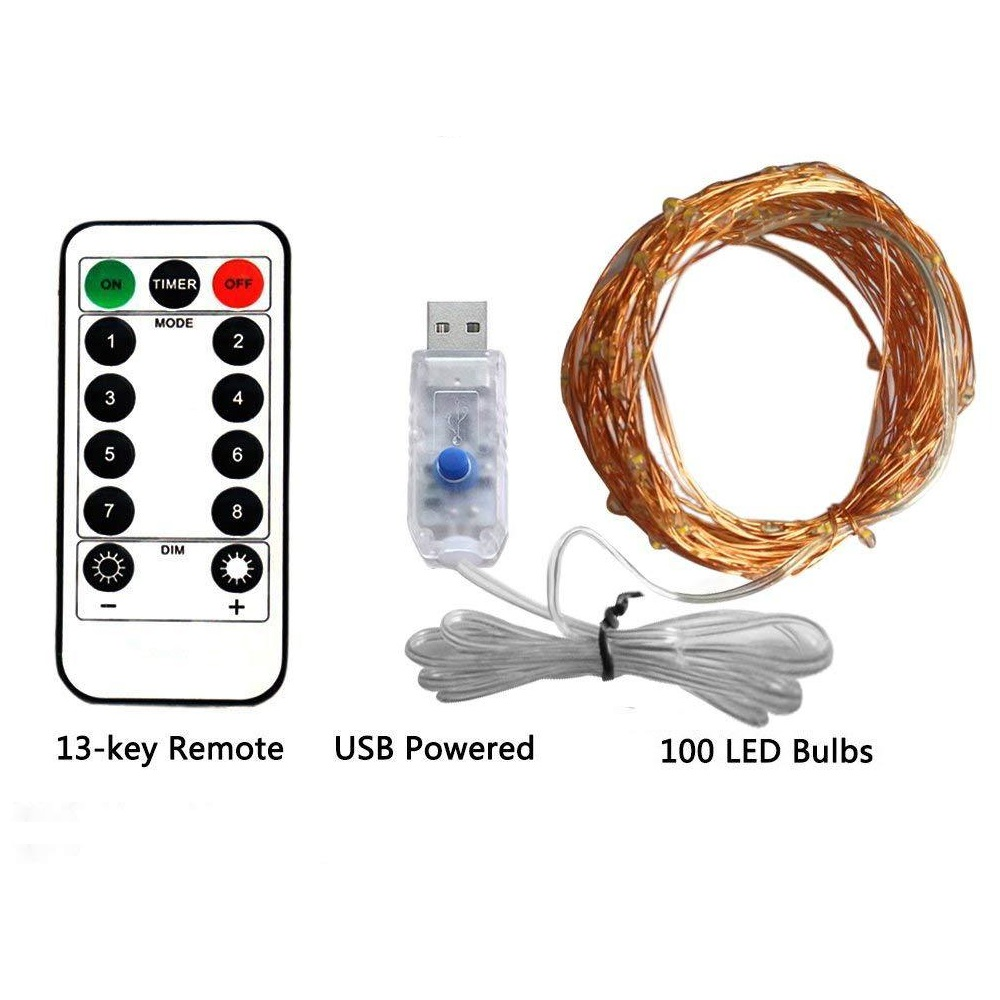 Copper Wire LED String Light Remote Control USB 5M/10M 50/100LED For Christmas Festival Wedding Party Garland Decor Fairy Lights
