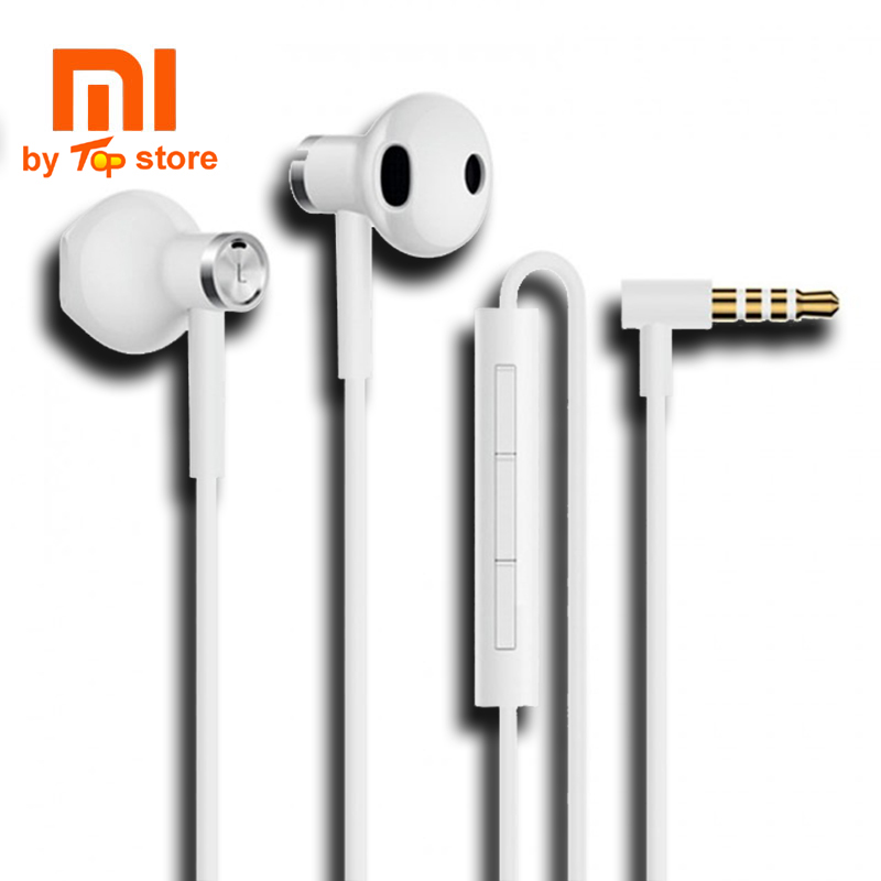 Original Xiao mi Double unit half In Ear Earphones Android handset male and female line controlled ear plug