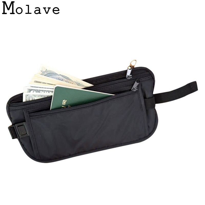 2018 Fashion New Unisex Functional Bag Casual Waist Bag Traveling Storage Zipper Waterproof Polyester Pouch Bag Wallet Apr13