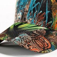 [AETRENDS] 2018 New Vintage Graffiti Design Baseball Cap Men Women Outdoor Sport Snapbacks Polo Hat Z-6250