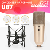 Debra audio U87 Professional 3 Directional pattern Condenser Microphone Mic Large Diaphragm Cartridge for Recording Studio Room