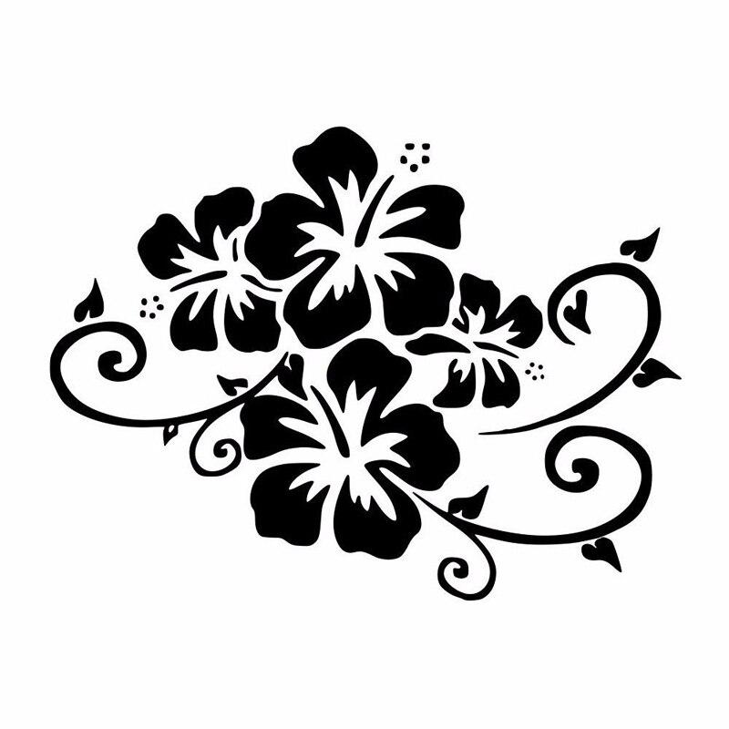 17.2*12.9 см цветок бампера декоративные Виниловые наклейки мода автомобиля мотоцикла наклейки С4-0918