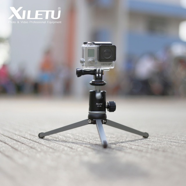 XILETU MT26+XT15 High Bearing Desktop Bracket Mini Tabletop Tripod and Ball Head For DSLR Camera Mirrorless Camera Smartphone