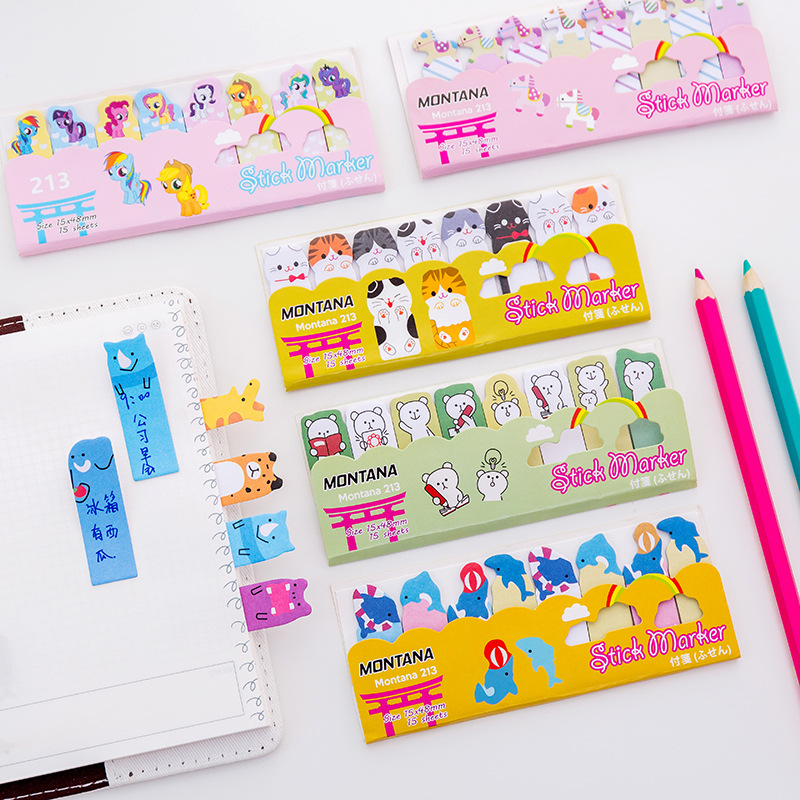 Happy Animal Finger Marker Memo Pad N Times Sticky Notes Memo Notepad Bookmark Gift Stationery