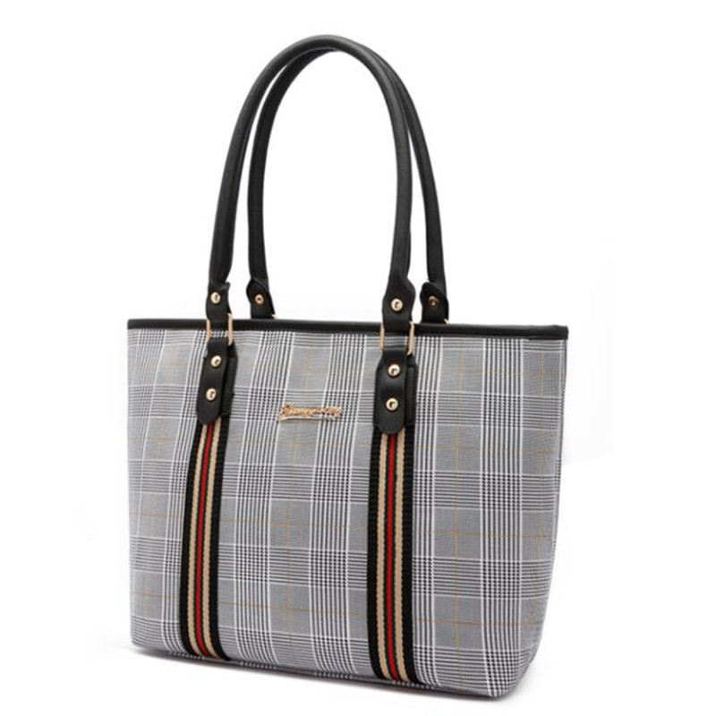 Willow Valley Womans Handbags Large Capacity Tote England Style Black Shoulder Bags for Ladies