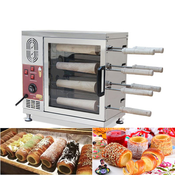 Commercial 110V 220V Electric Chimney Cake Oven Kurtos Kalacs Maker Baker Machine