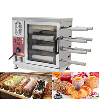 Stainless Steel Commercial 110v 220v Electric 16 Roller Hungarian Kurtosh Chimney Cake Oven